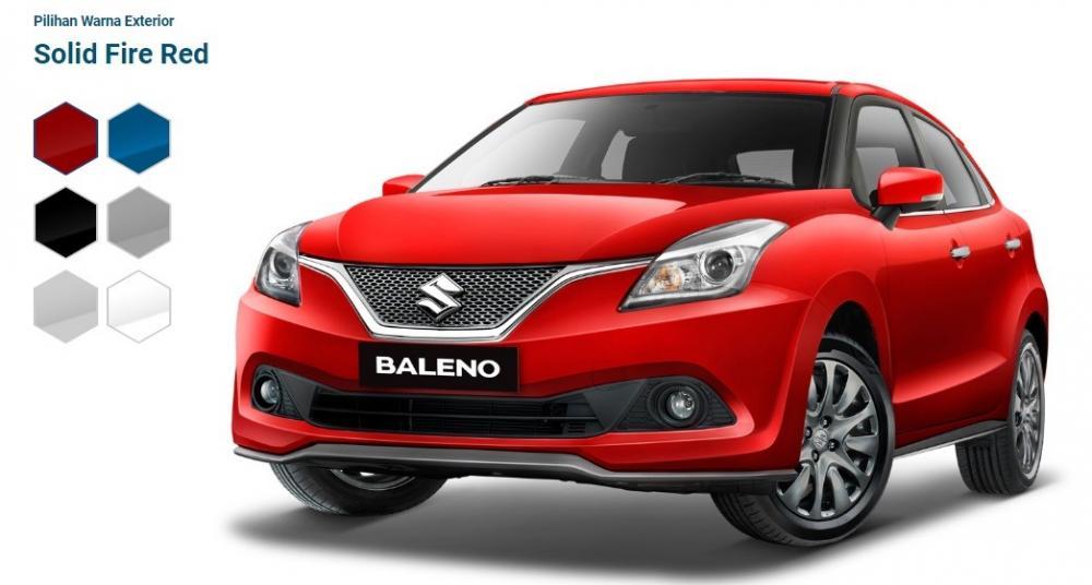 Gambar varian mobil Suzuki Baleno 2018 berwarna merah