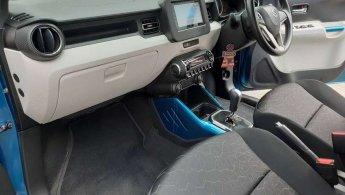 Suzuki Ignis GX AT 2018 Biru Putih Low kilometer Like New TDP Minim